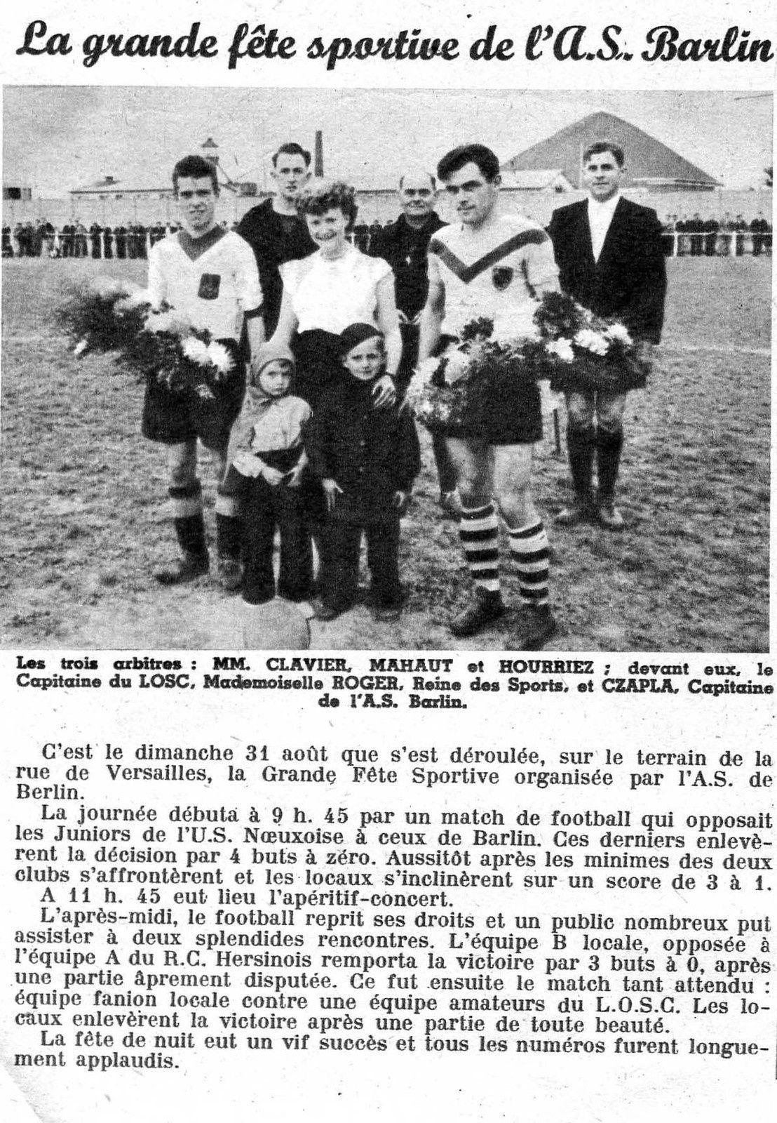 Coupure du magazine du mineur ''Equettes'' septembre 1952
