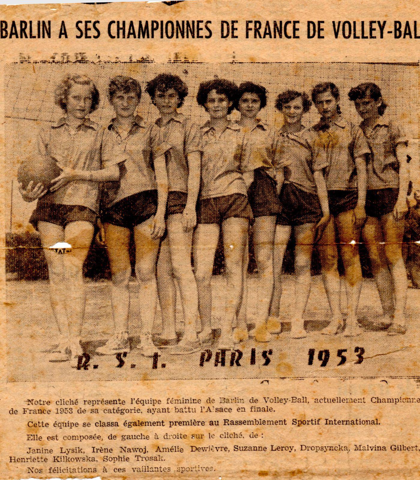 Barlin champion de France de volley-ball