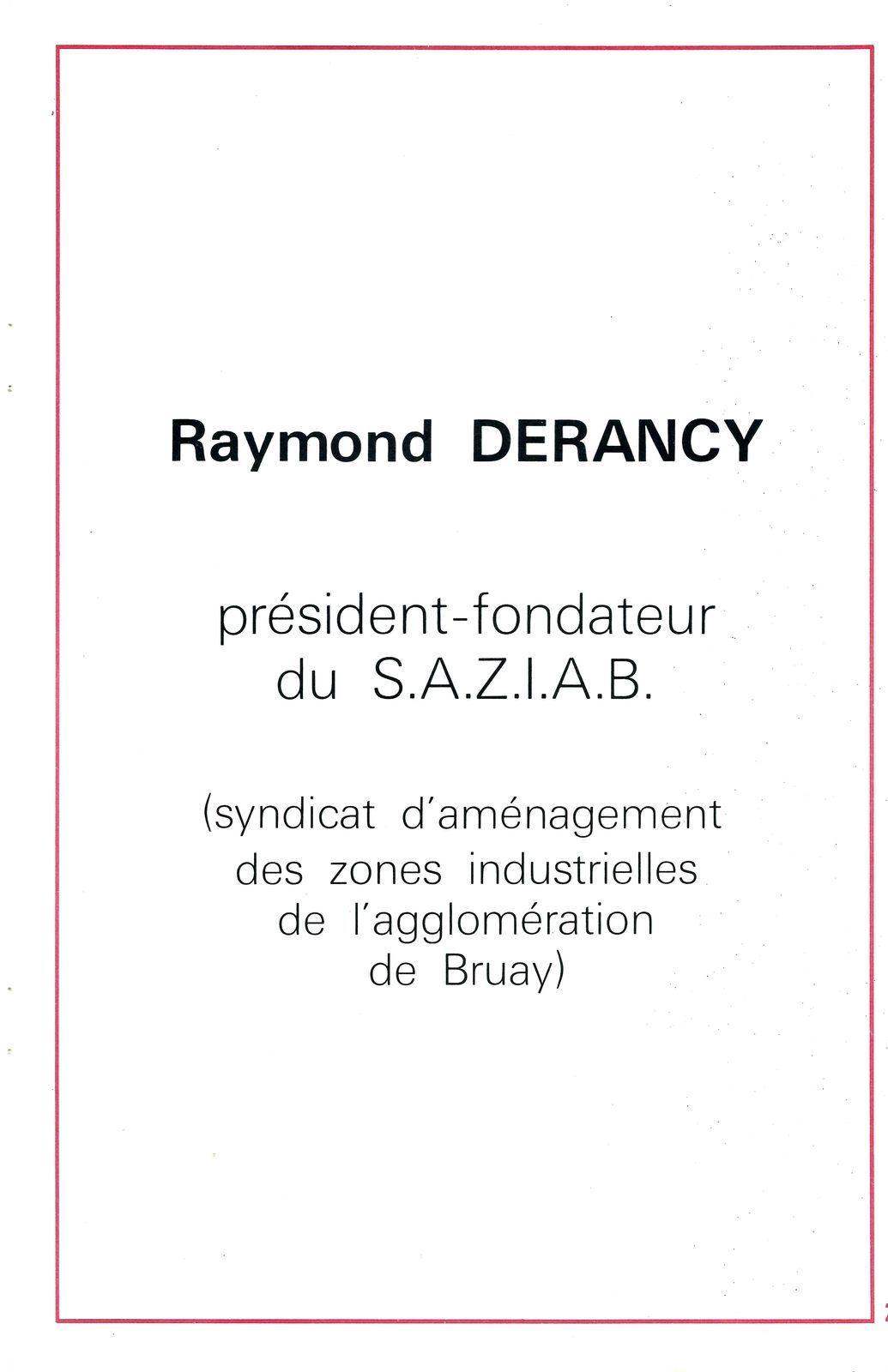 Raymond Derancy le père fondateur de la zone industrielle de Ruitz