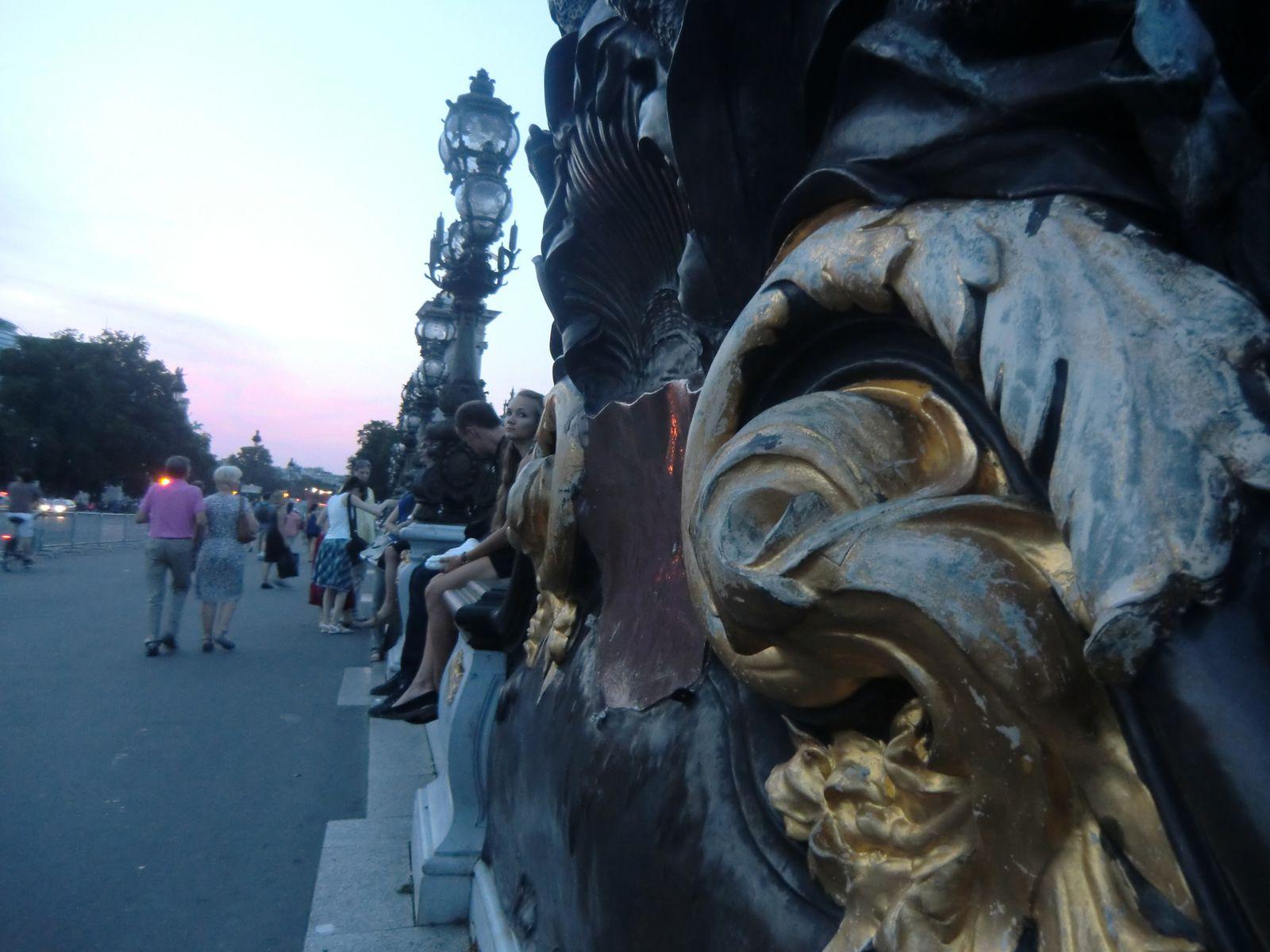 Me voici sur le Pont Alexandre III