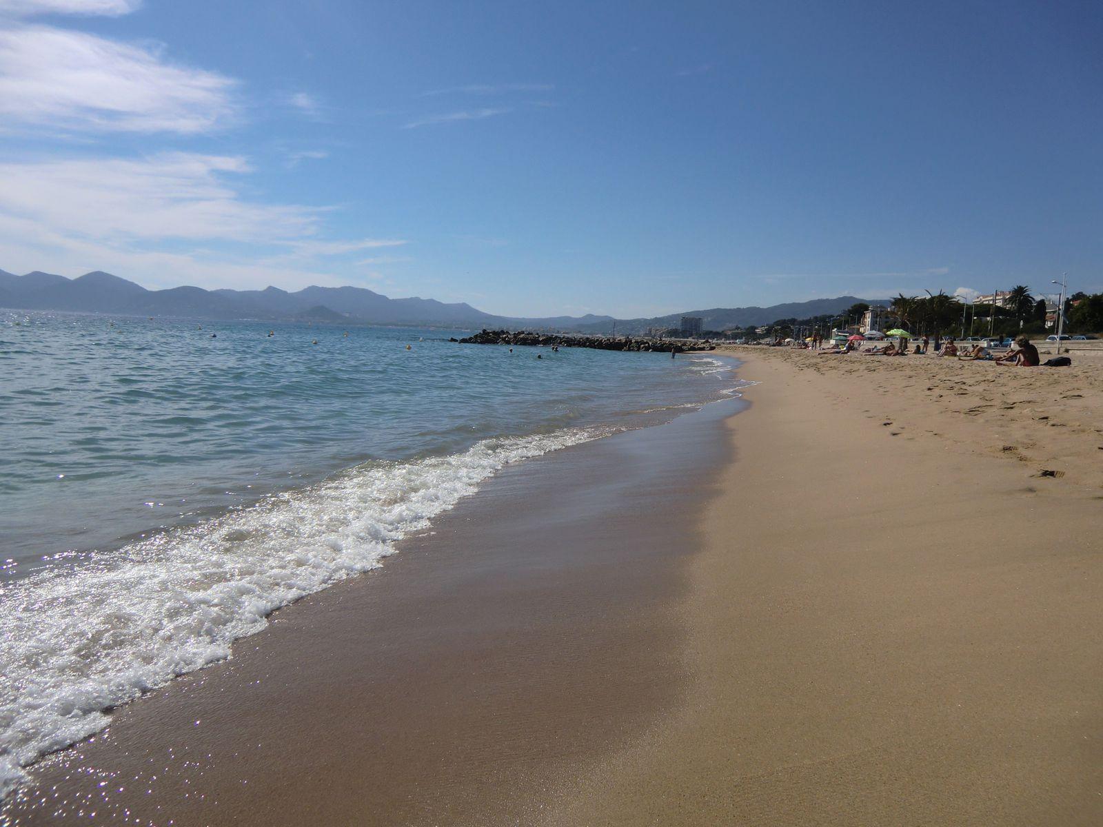 les plages du Midi en allant vers Cannes la Bocca