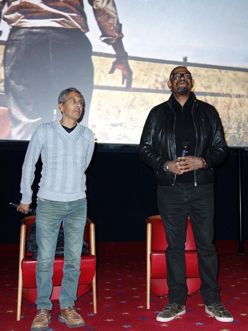 """Rachid Bouchareb, réalisateur producteur franco-algérien. Forest Whitaker, acteur américain, oscarisé pour son rôle dans le film : """"le Roi d'Ecosse"""""""