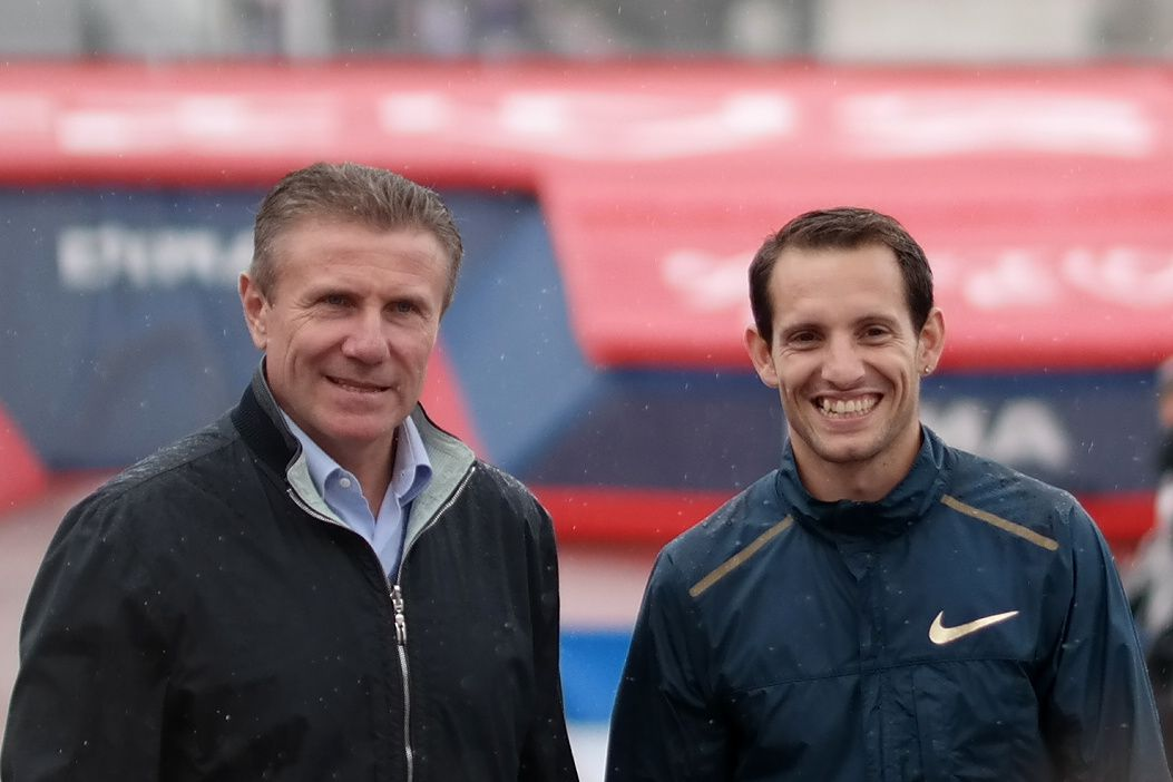 Sergei Bubka et Renaud Lavillenie
