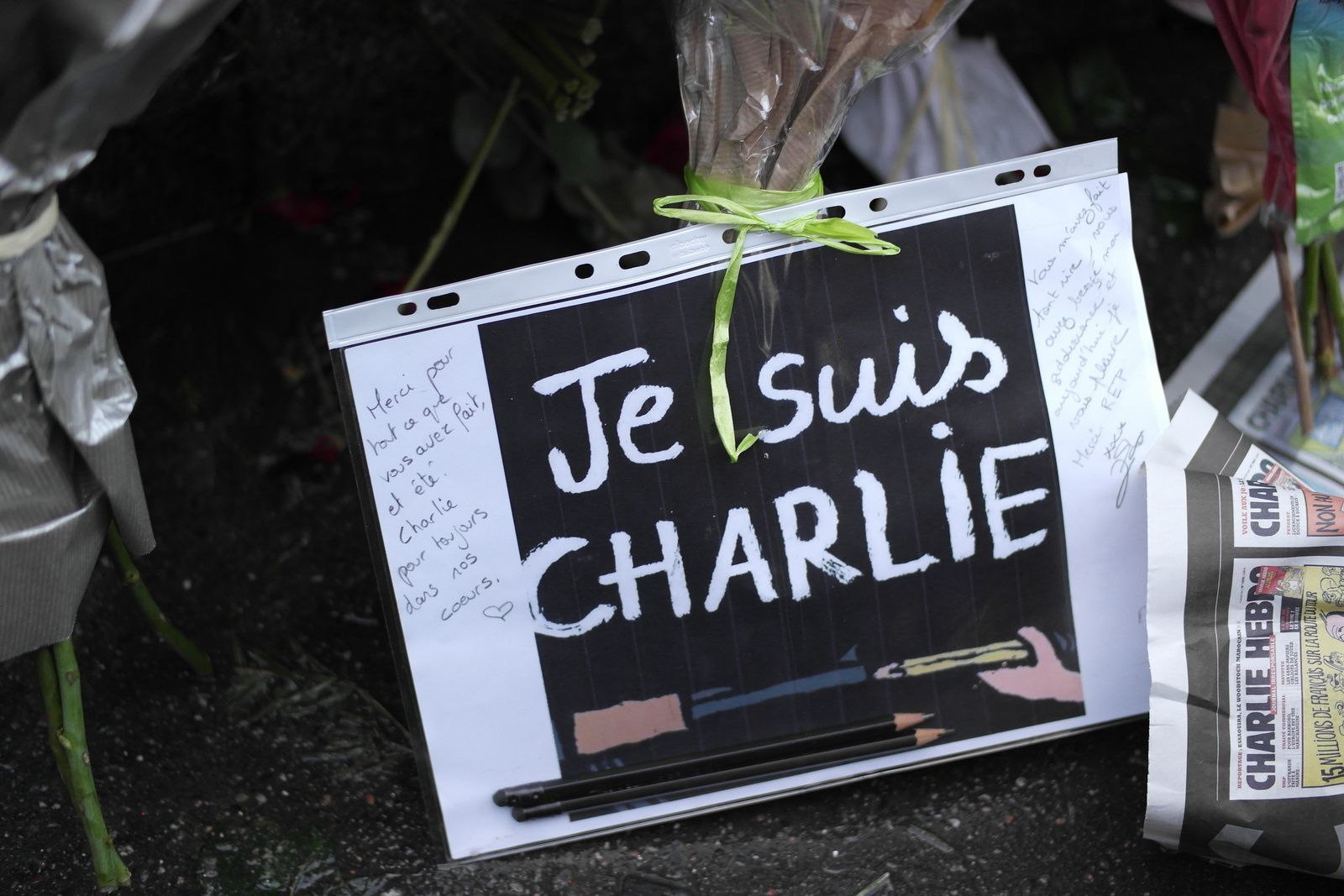HOMMAGE A CHARLIE HEBDO  (7/01/2015)