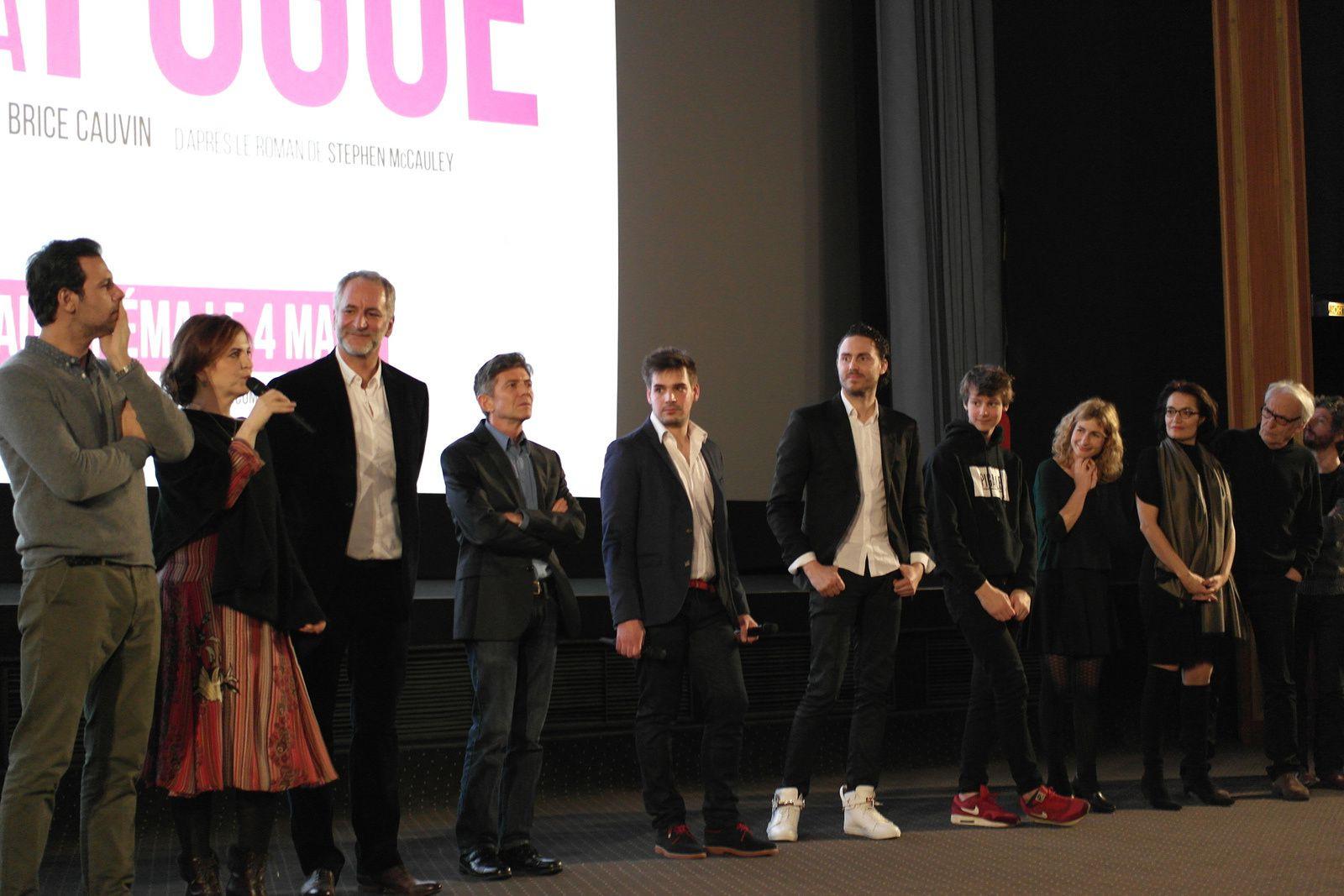 Laurent Lafitte, Agnès Jaoui, Brice Cauvin, Stephen Mc Cauet, Erwan Marinopoulos. Le réalisateur fait venir tous ceux qui ont participé au film.