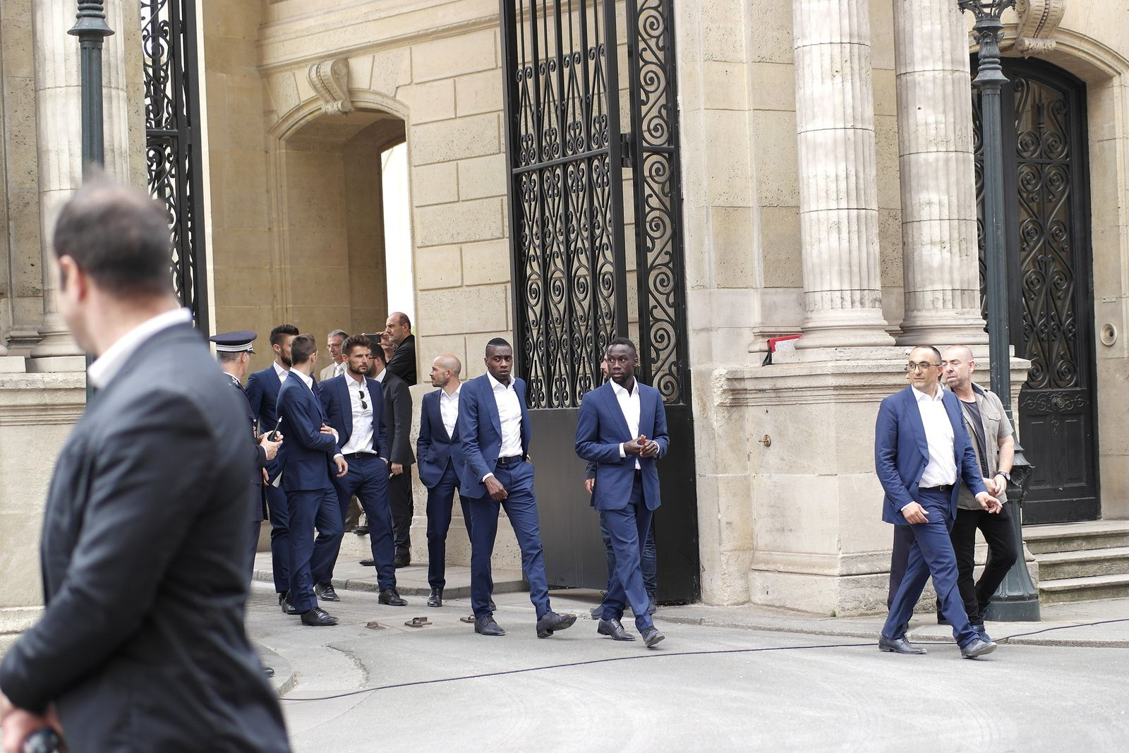 Benoit Costil, Christophe Jallet, Blaise Matuidi, Bacary Sagna