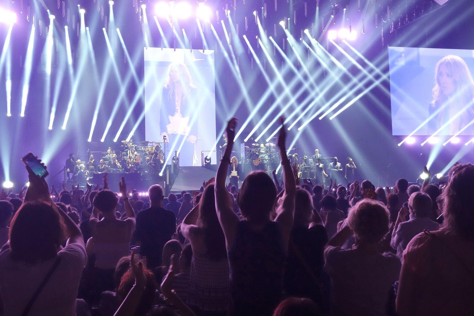 CELINE DION à l'Accor Hotels Arena Bercy (7/7/2016)