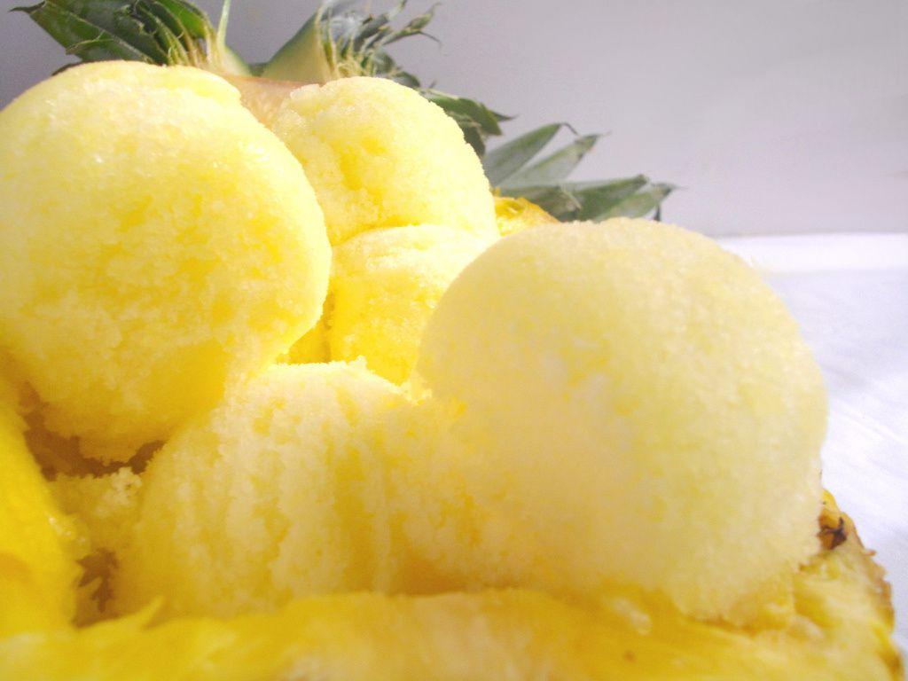 Photo internet sorbet ananas