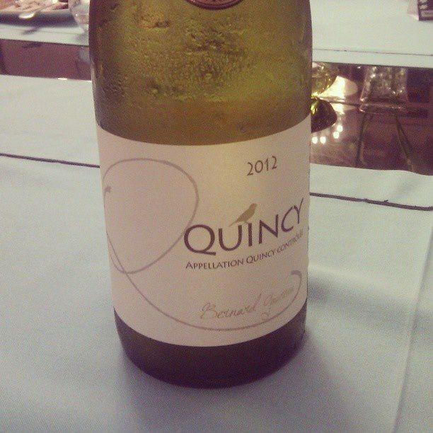 Soirée de boulot œnologie et j'ai reconnu les 2 appellations à l'aveugle. En cadeau, donc, une bouteille de Quincy, chouette !
