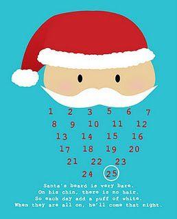La barbe de Papa Noël, un joli calendrier de l'avent