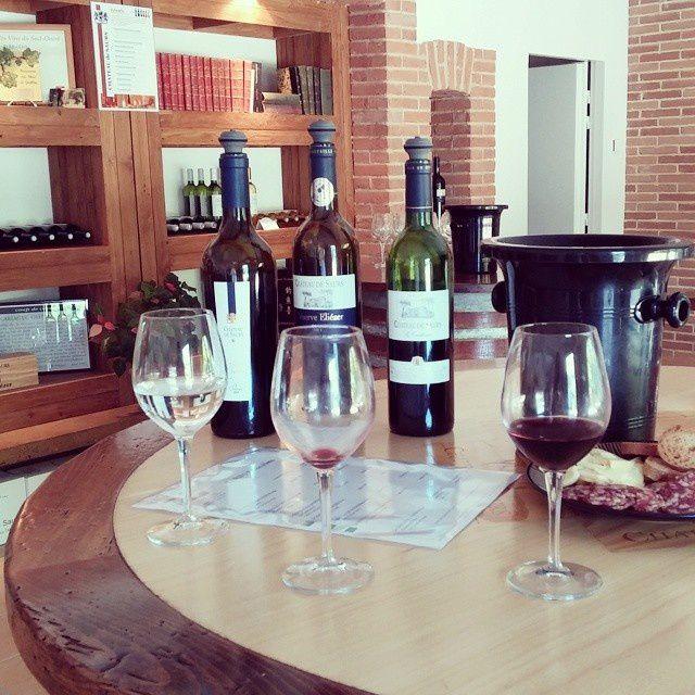 Le Tarn, c'est aussi de Grands vins de Gaillac, découverts avec beaucoup d'intérêt !