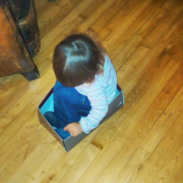 PetitChou se met en boîte... à chaussures...