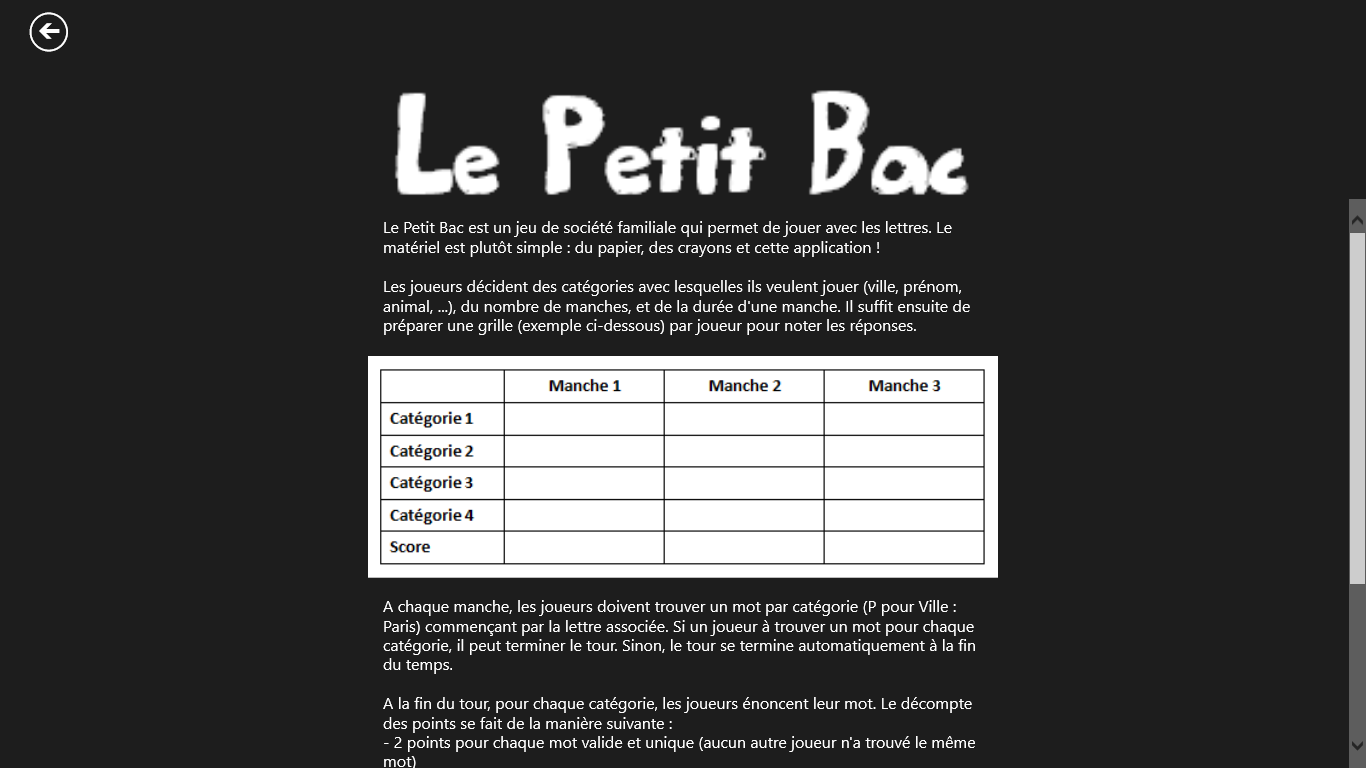 Page d'aide
