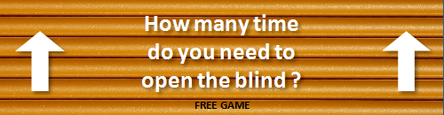Open the blind