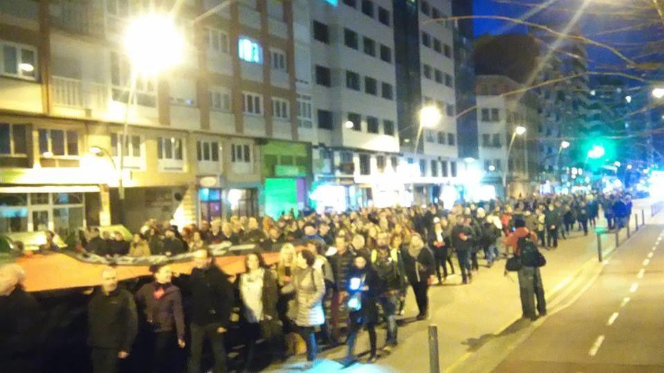Campagne BDS en Espagne:  Boycott desinvestisemment Sanctions.  Contre le match Espagne/Israel.