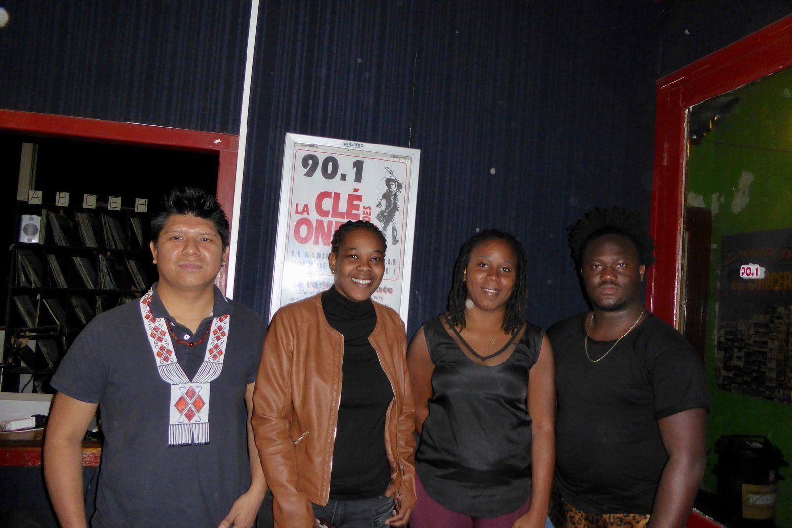 Quatre jeunes Guyanais et Guyanaise, Ludovic, Shana, Marie-Lise et Gerald sont venus nous expliquer