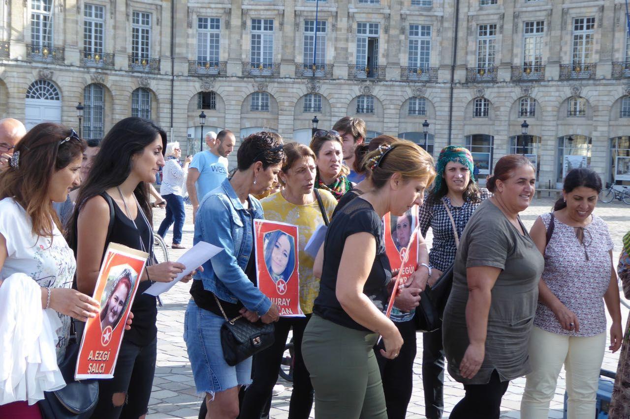 Commémoration par le HDK Bordeaux du massacre de Suruç le 20 juillet 2015