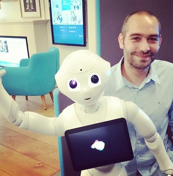 j'ai rencontré Pepper le robot [humanoïde]