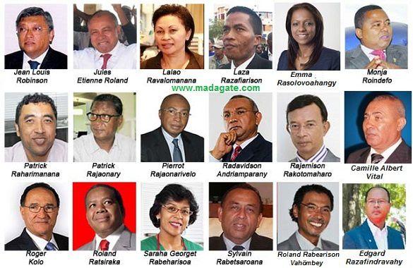 Photos de quelques-uns de ces 49 candidats-présidents présélectionnés au 28 avril 2013