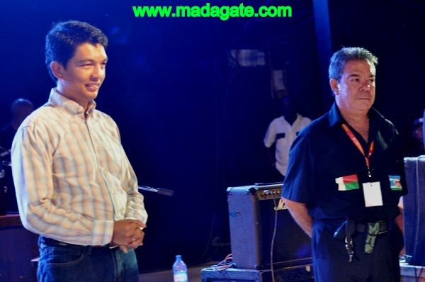 Le Président Andry Rajoelina et Vincenzo Sanna