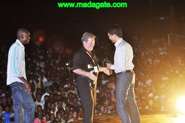 Andry Rajoelina à la clôture de la 20è édition du festival Donia de Nosy Be
