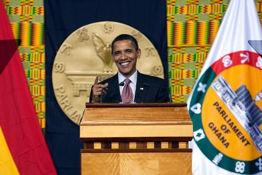 Barack Obama sourit mais ne blague pas dans le respect de la Constitution