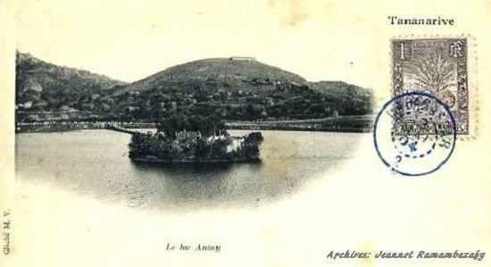 Le lac Anosy en 1904
