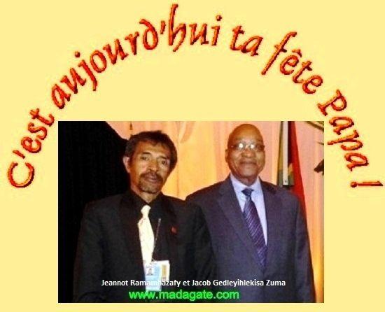 Photo-souvenir avec le Président Sud-africain, pour tous mes enfants et petits-enfants