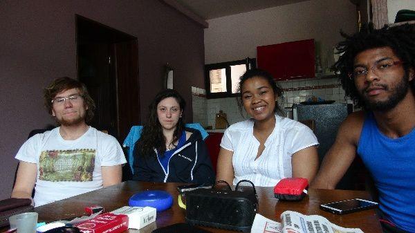 Antananarivo sinistrés 2015. Nicolas, Julie, Sarah et Maxence: choc des réalités