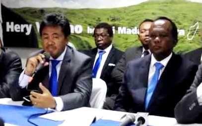 Jaobarison Randrianarivony et Rivo Rakotovao (Sg et Président du parti HVM)