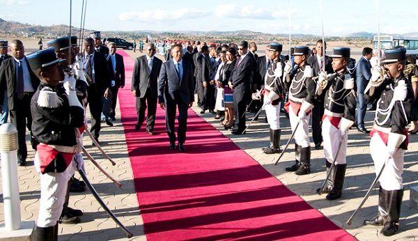 Arrivée à Ivato du président Rajaonarimampianina, le 5 octobre 2015