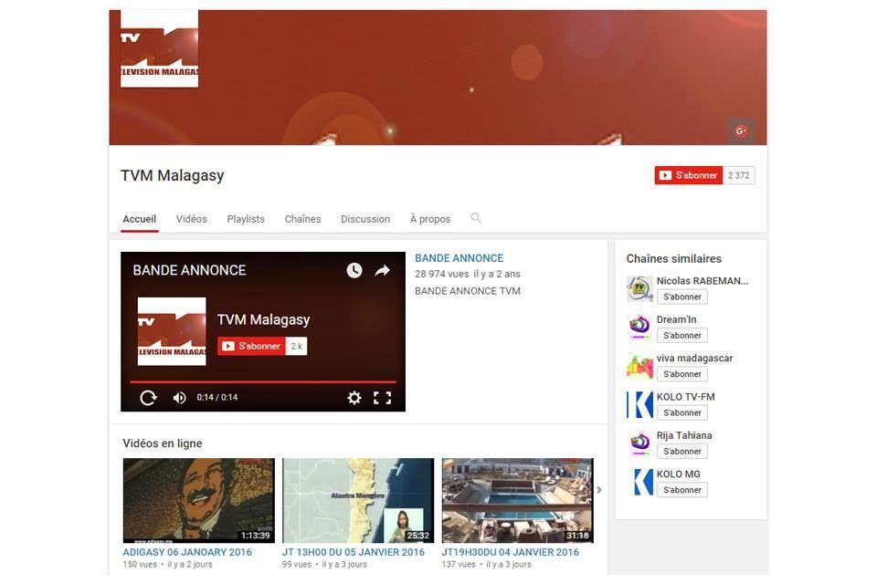 Nijanona tamin'ny datin'ny 6 Janoary ny ao aminy TVM youtube marina!