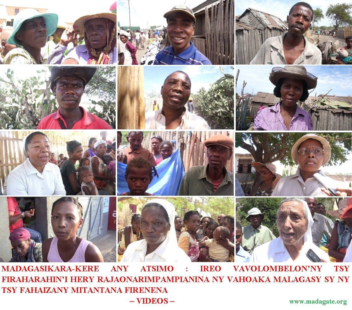MADAGASIKARA-KERE ANY ATSIMO: IREO VAVOLOMBELON'NY TSY FIRAHARAHIN'I HERY RAJAONARIMPAMPIANINA NY VAHOAKA MALAGASY SY NY TSY FAHAIZANY MITANTANA FIRENENA – VIDEOS –