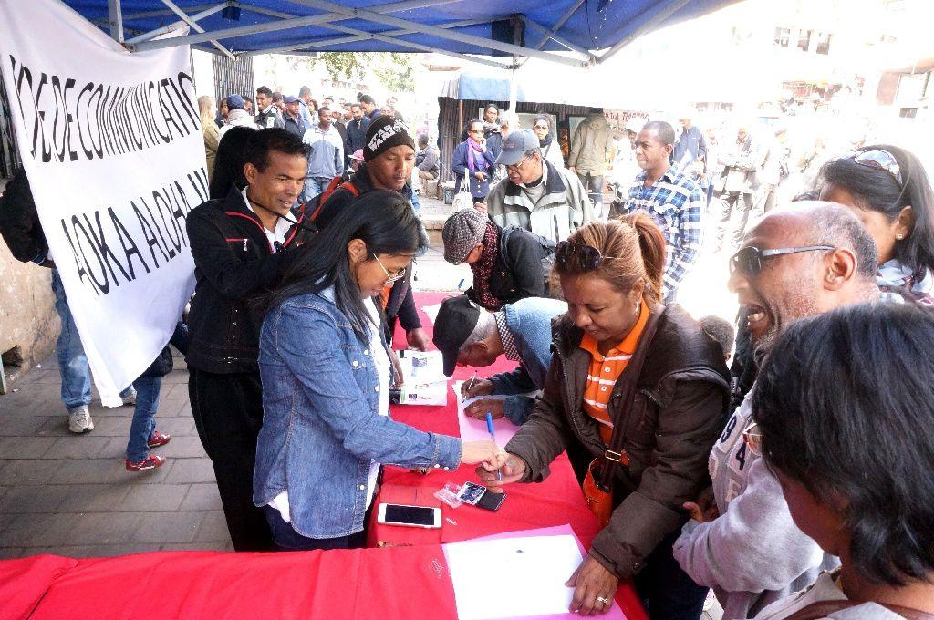 Antananarivo. Pétition contre le code de la communication liberticide, le samedi 03 Septembre 2016