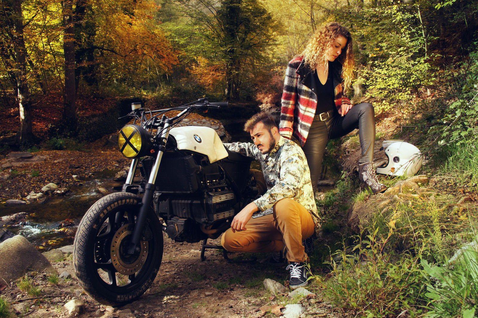 BMW; Moto ; shooting nature