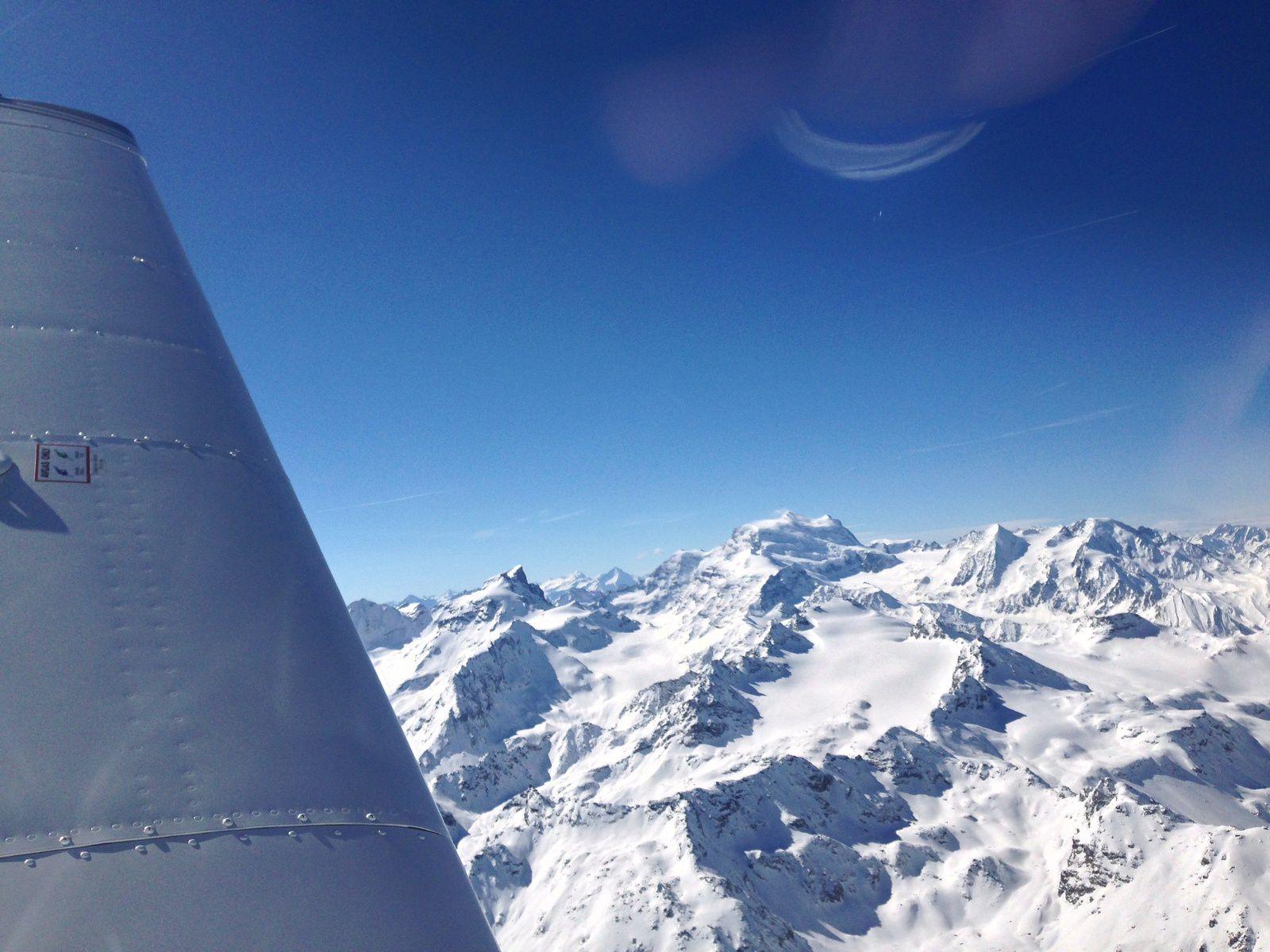 De retour au dessus des Alpes