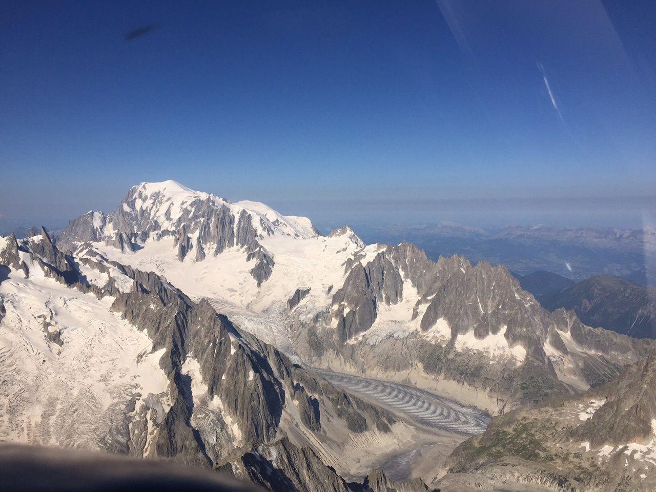Vol en montagne autour du Mont-Blanc