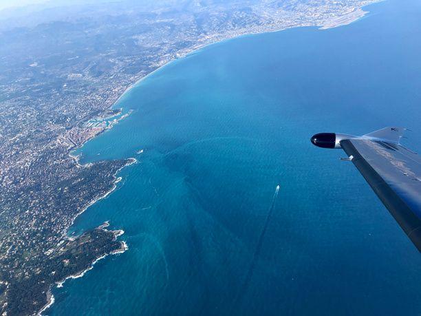 La Côte d'Azur, magnifique région vue des airs 👌