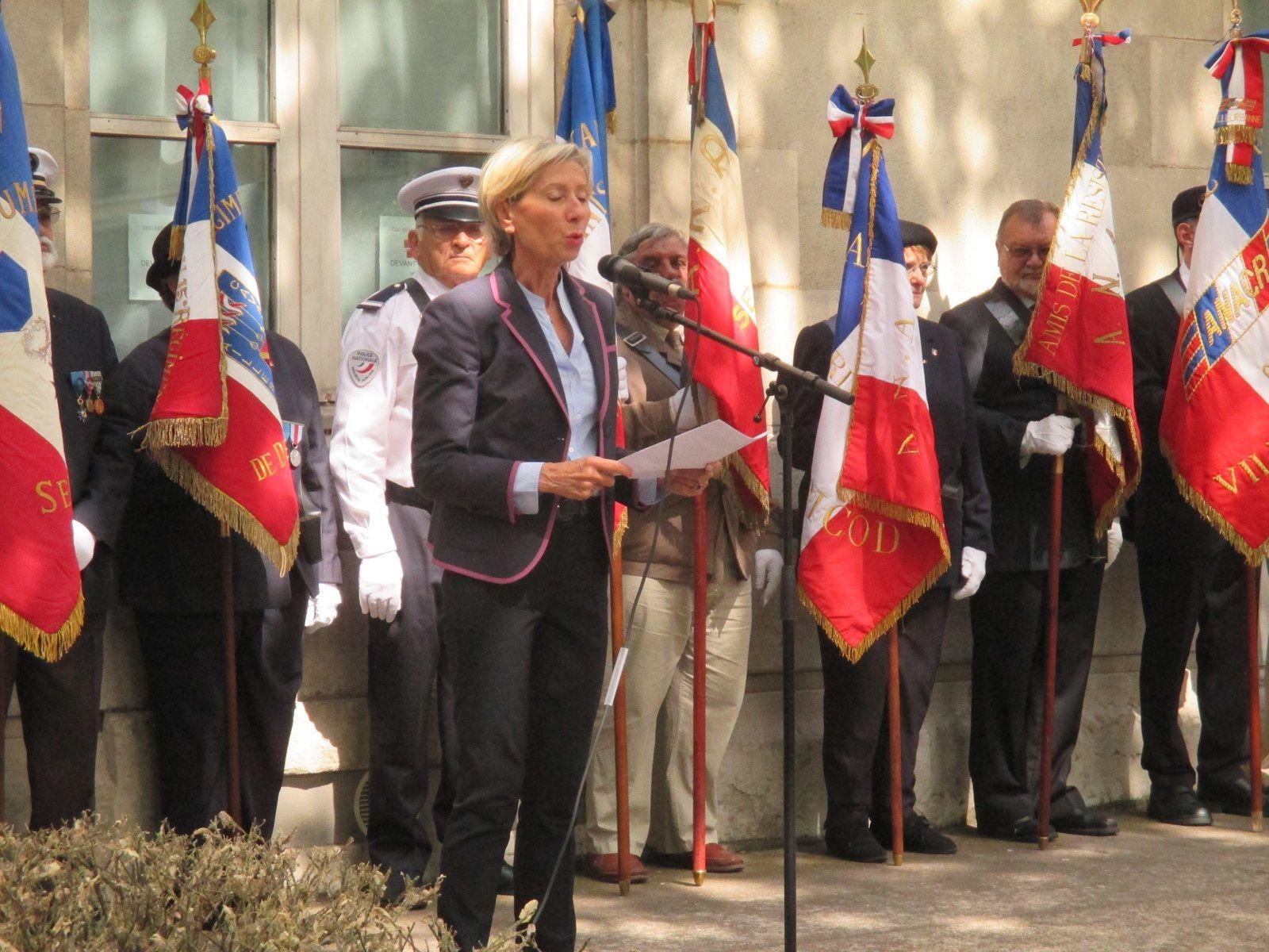 Un Anniversaire célébré dans un haut lieu de la Résistance et de la Déportation dans la Cour d'Honneur du Centre Berthelot à Lyon 7ème