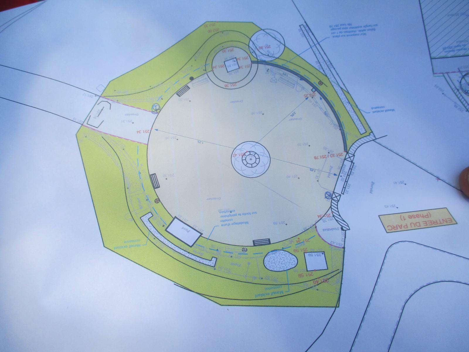 Le plan d'aménagement du Parc