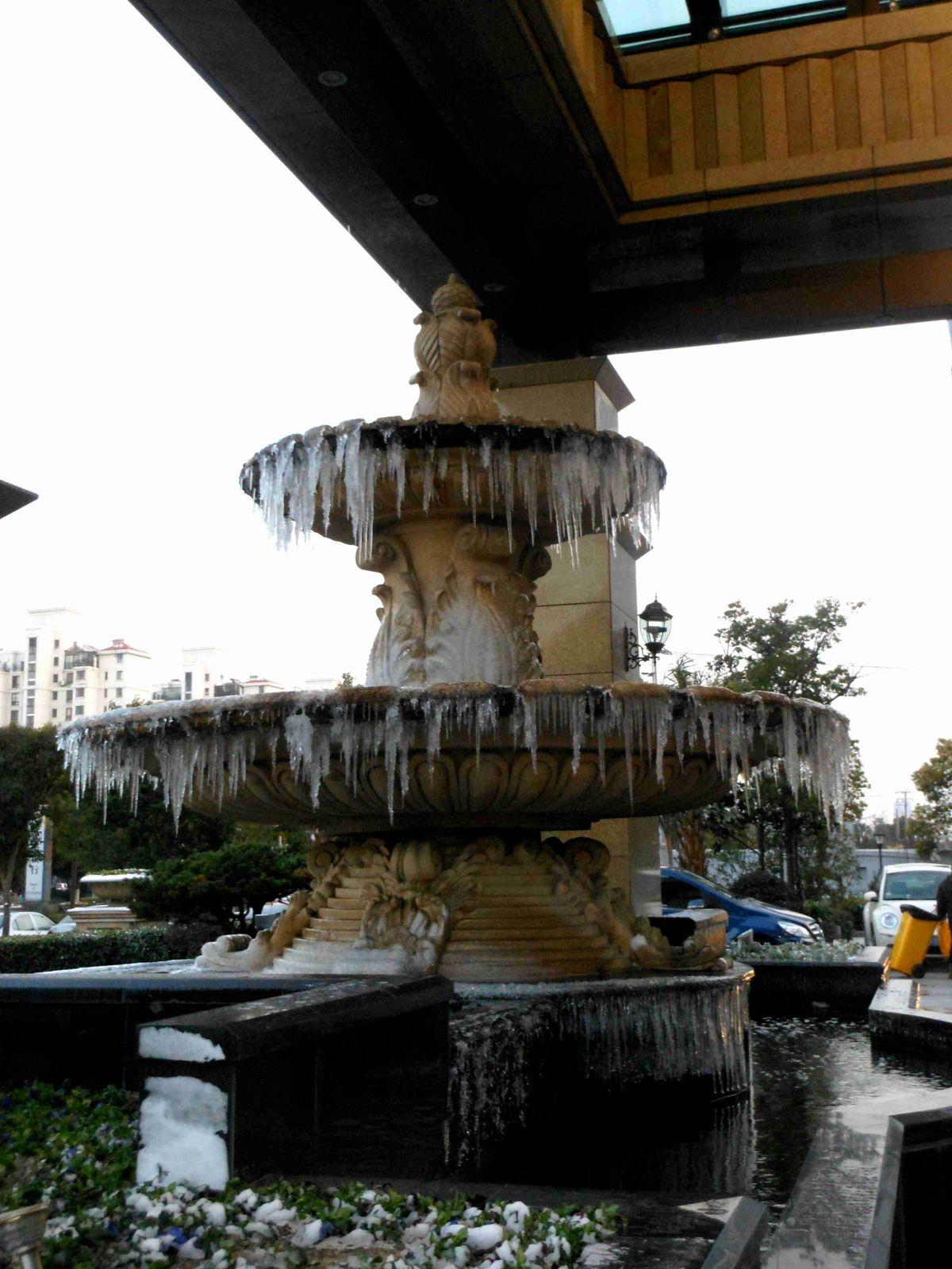 Il a neigé à Shanghai !!!!!!!