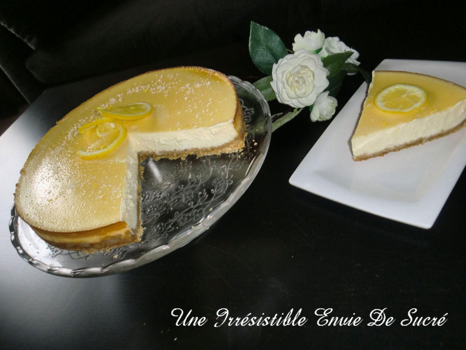 Cheesecake New Yorkais Au Citron