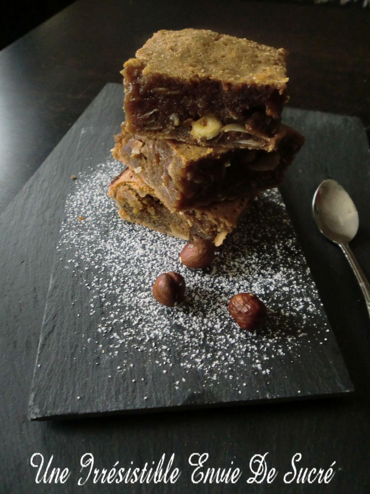 Brownie Au Chocolat Praliné et Noisettes