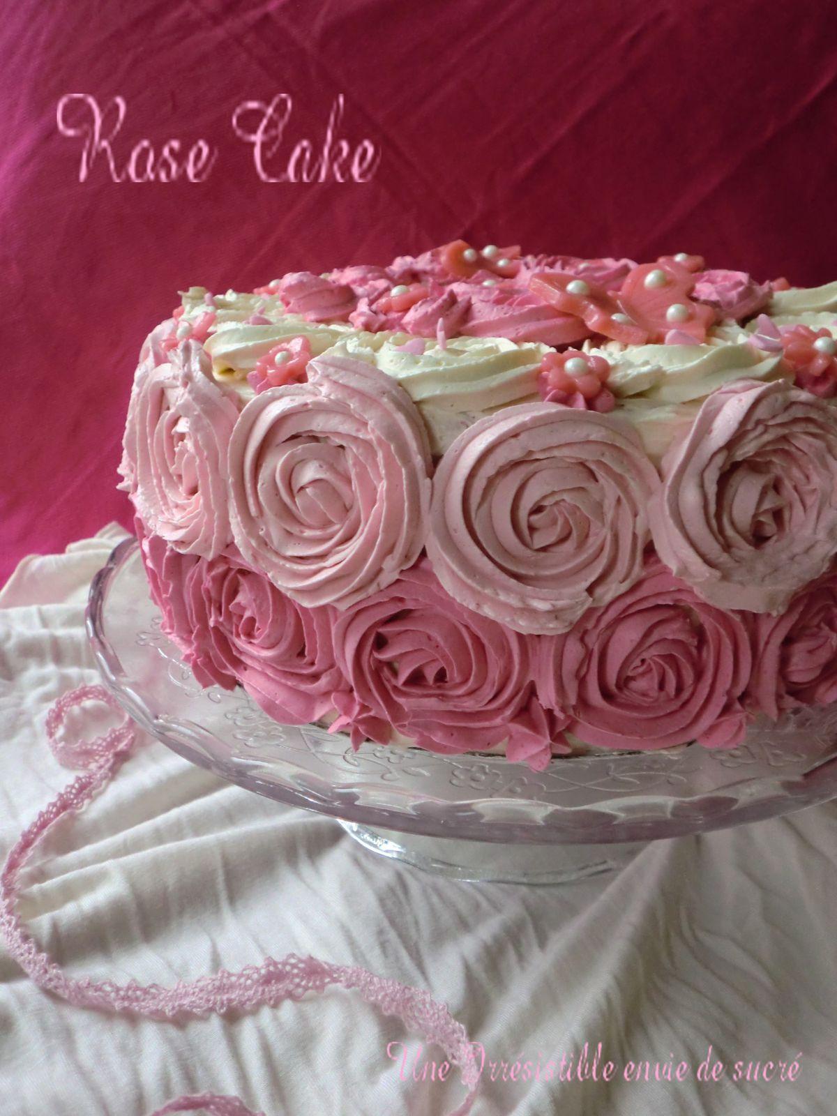 Rose Cake Au citron vert  &quot&#x3B;Gâteau D'Anniversaire&quot&#x3B;