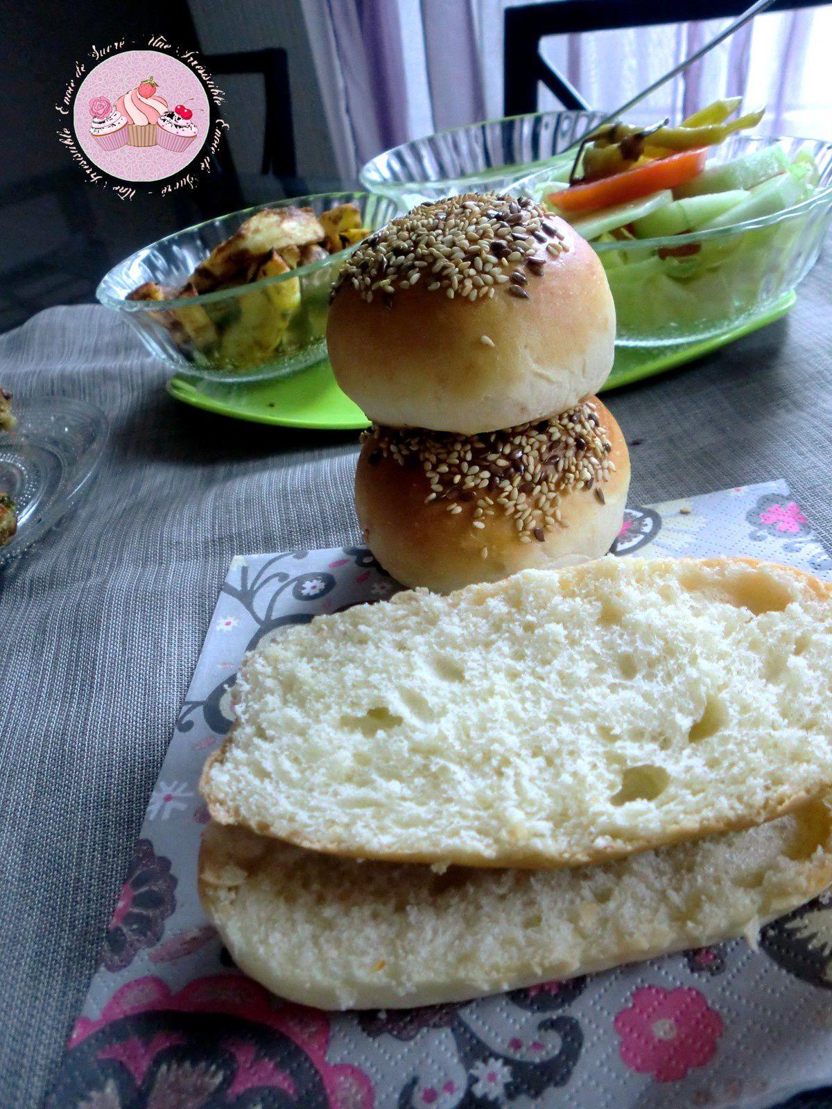Pain Brioché Pour Hamburger Maison et Galettes de Pommes De Terre &amp&#x3B; Thon