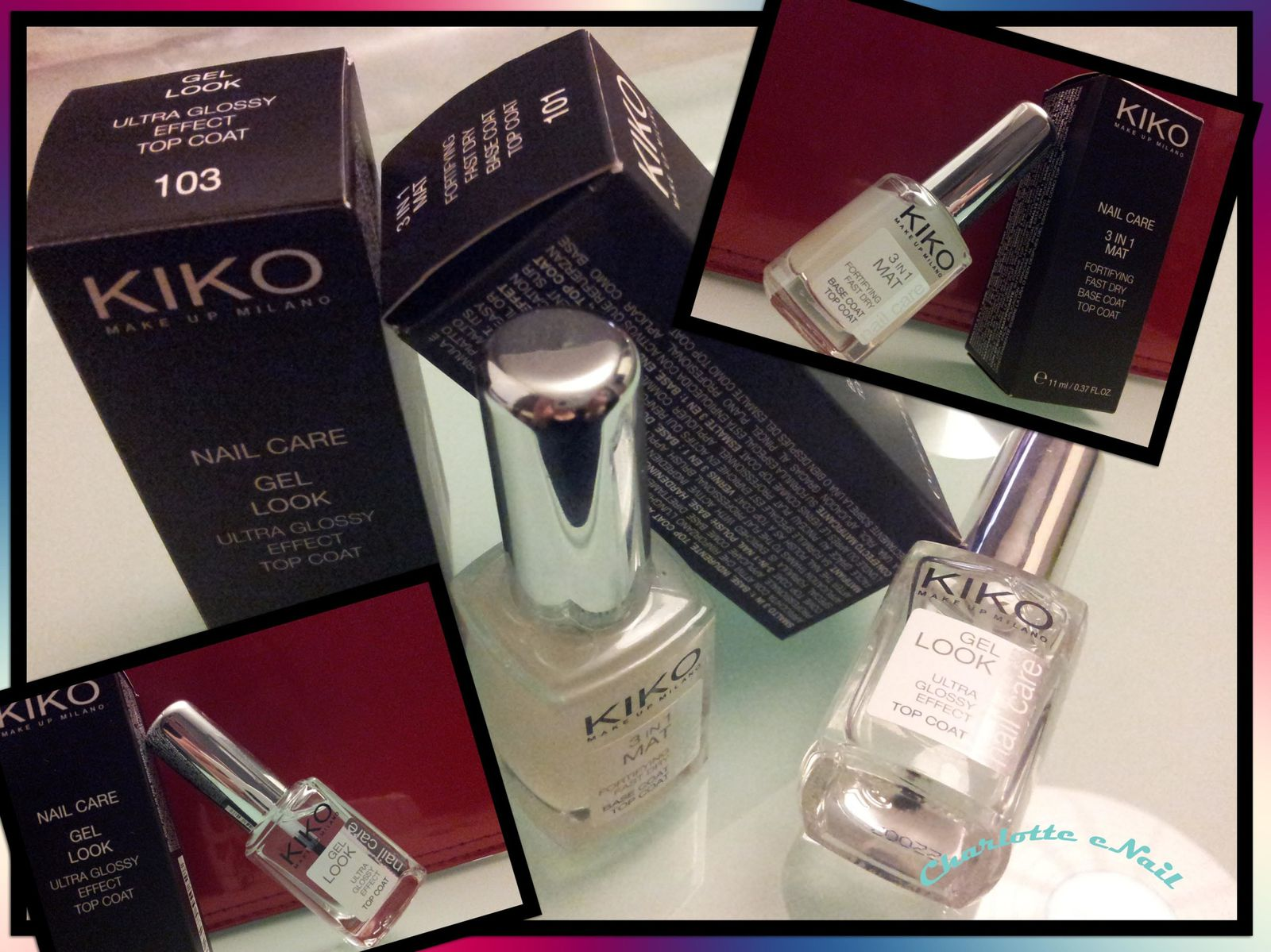 KIKO base et top coat