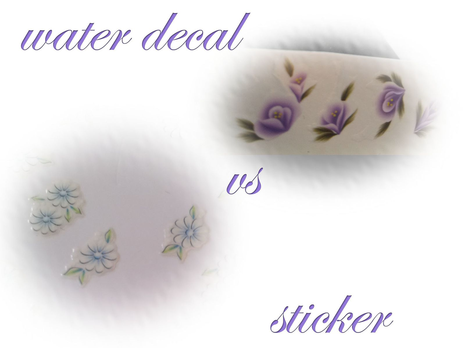 Technique : water decal VS sticker