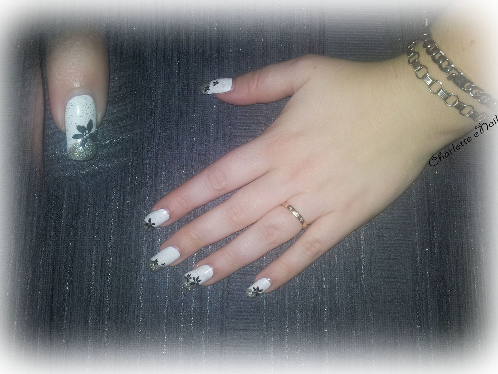 Nail art : French paillettes