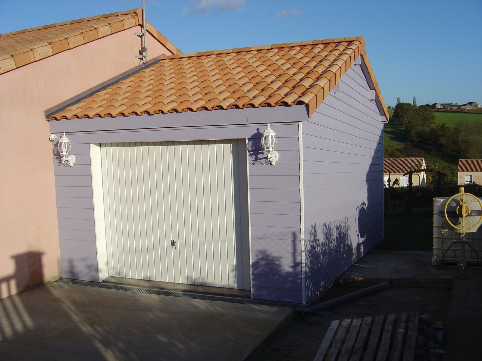 Autoconstruction d 39 un garage ossature bois for Toiture de garage