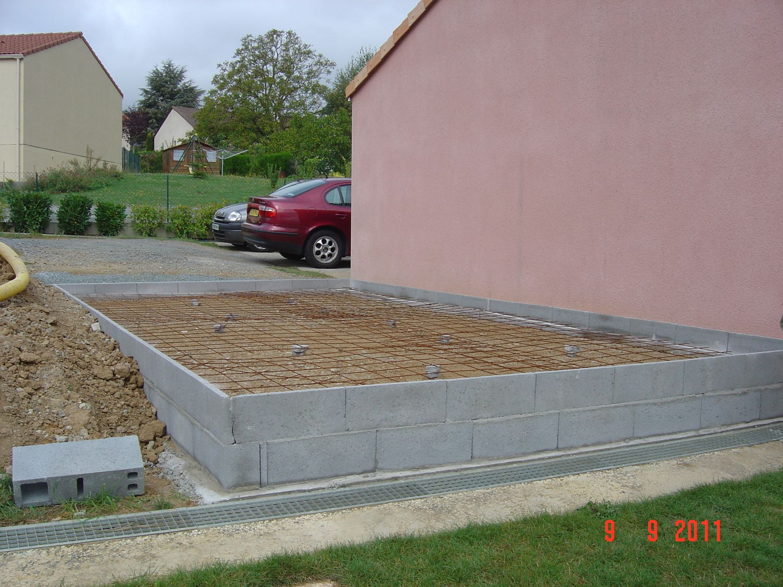 Autoconstruction d 39 un garage ossature bois - Prix de construction d un garage au m2 ...
